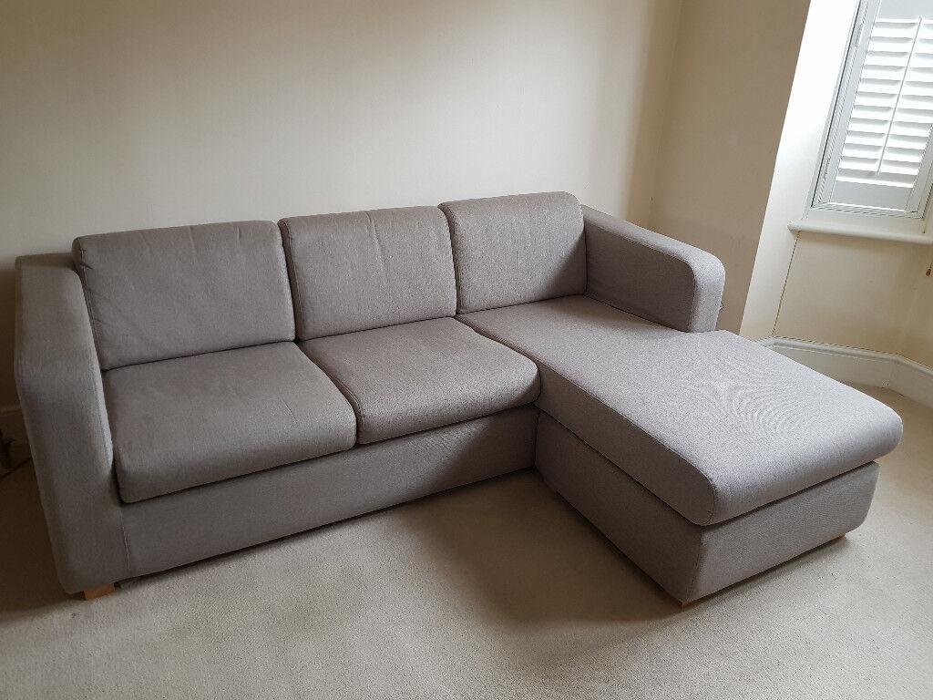 habitat porto 3 seater chaise sofa in newbury berkshire gumtree. Black Bedroom Furniture Sets. Home Design Ideas