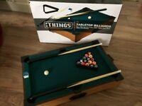 Tabletop Billiards Boxed NEW!! (Box A Bit Tatty)