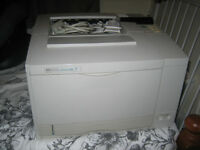 Laser printer with new toner cartridge
