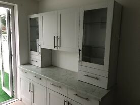 Large white kitchen clean cabinets built in oven