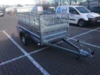 Brand new Faro Tractus 2,36cm car box trailer 750kg + mesh side