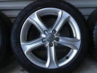 Audi A4 B8 alloy wheels with winter tyres