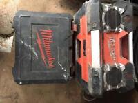 Milwaukee radio and drill