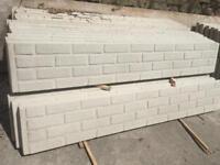 Brick effect concrete fencing / plinths / gravel boards