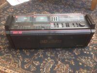 radio , cassette player