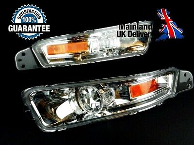 FOR FORD MUSTANG 2004-2009 PAIR CLEAR FRONT INDICATORS REPEATERS LAMP LH+RH SET