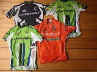 4 x Cycle jersey / top Cannondale and euskatel