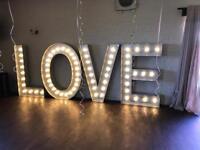 5ft light up love letters nottingham derby