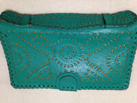 Ethnic Leather Wallet/Organizer Made in Mexico