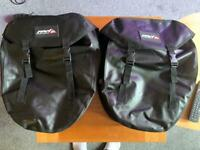 Black bicycle panniers - Red cycling products large waterproof pannier bags