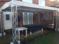 MILOS TRUSS - 4.5m x 2.5m canopy - uses high quality truss system, includes canopy and bungees