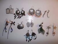 10 Pairs of Earrings - Hanging Earrings Joblot