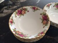 Royal Albert Old Country Roses cereal or dessert bowl, 16 cms, 10 available