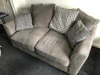 Grey Three Seater Sofa - Motherwell