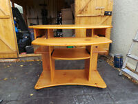 Solid Pine Computer/Office Desk. Open to offers
