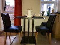 Dining chairs - Black Faux leather
