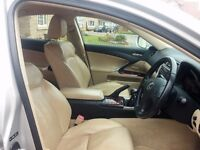 Lexus IS SE-L 73500 miles Full history Excellent condition RARE beige full leather interior