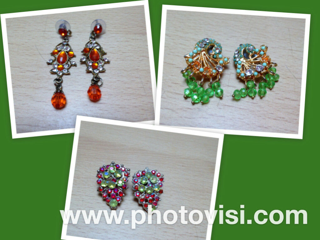 **BRAND NEW** 3 pairs of costume jewellery earrings