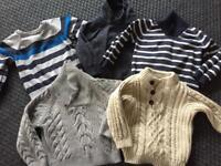 Baby boy jumpers 12-18 mths