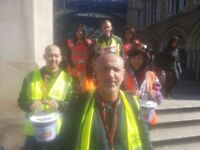Charity Fundraisers and bag packers