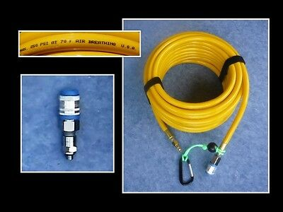 75' Scuba air breathing Hookah Hose kit with 1st and 2nd stage adapters only