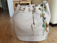 Genuine Radley Hendon Handbag Womens Cream bag with detachable accessory bag
