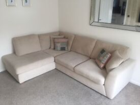 DFS corner sofa and foot stool