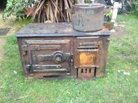 Old cast iron wood burner