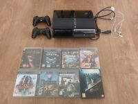 Sony PS3 60gb original (ps2 backwards compatible) + 8 games + 2 controllers