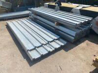 8FT GALVANISED BOX PROFILE ROOF SHEETS - NEW