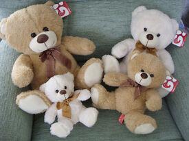 Fluffy Teddy Bear Family