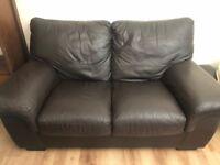 Dark brown 2 & 3 seater sofas