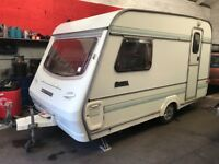 Omega compass 360-2 berth 1992 caravan with awning! Very good condition inside and out! Damp free!!