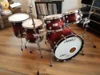 Mapex Orion Drum Kit 10 12 14 16 22 Wine Burl