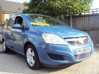 Vauxhall Zafira Exclusiv- 7 Seater- LONG MOT & With Service History - £2,499
