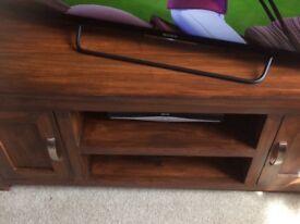 Sheesham wood tv unit £50