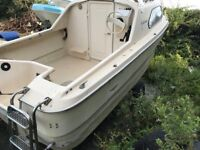 Shetland 536 Sea going leisure or fishing boat with 55hp yamaha outboard