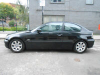 Beautiful Black BMW 3 Series Coupe Compact in RARE AUTO AUTOMATIC 316ti 316 ti with FSH Long MOT