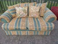 2 Seat Fabric Striped Sofa Delivery Available