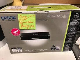 EPSON WORKFORCE WF 100W WIRELESS PORTABLE PRINTER NEW BOXED RRP £199