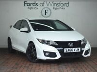 HONDA CIVIC 1.4 I-vtec Sport 5dr [Reverse Camera, Bluetooth, Parking Sensors] (white) 2016