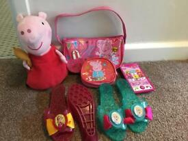 Girls princess & peppa toy Bundle