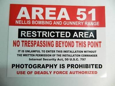 Area 51 Halloween (HALLOWEEN HORROR Movie PROP AREA 51 SIGN)