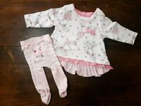 5 baby girl outfits - 0-3 months