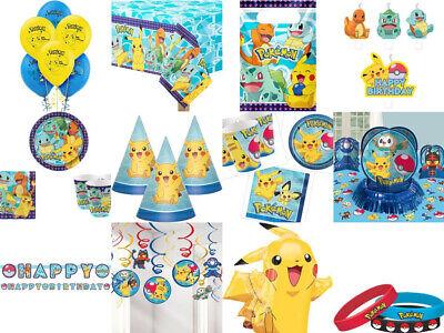 Pokemon Party Geburtstag  Ballon Einladungen Tischdecke Gedeck Mitgebsel Kerzen