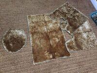 Brand new toilet carpet set for sale!!