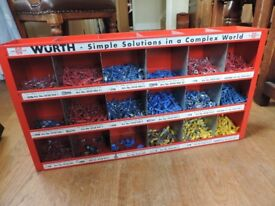 A Huge Selection of Wurth Insulated Electrical Cable Connectors in a Metal Wall Unit