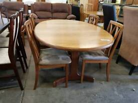 G-plan large extending table and four chairs