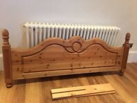 Pine wood headboard to suit a king size bed