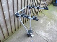 lockable Thule 3 bike towbar towball bicycle carrier for car cycle